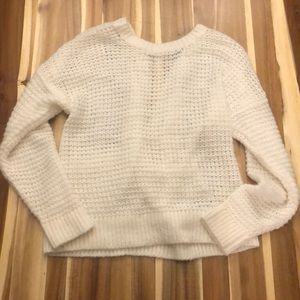 Abercrombie & Fitch low back white sweater